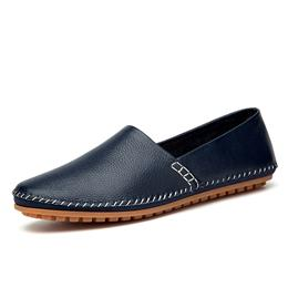 Genuine Leather Manual Sewing Men Loafers Slip on Leather Casual Shoes Men