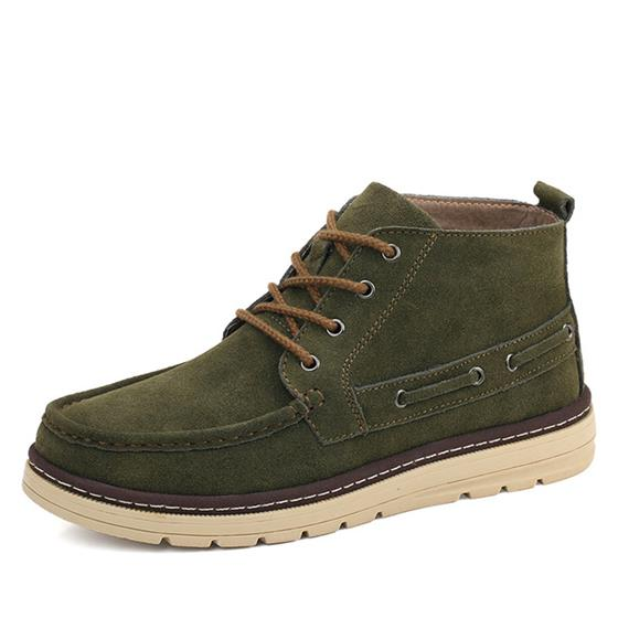 Casual Men Suede Leather Shoes Brand Quality Footwear Men Boots, Cow Suede Boots